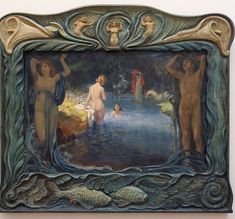 "paintingses: "" "" Idyllic Landscape with Bathers by Ludwig von Hofmann medium unknown, 1900 "" "" Ludwig, Google Images, Art Nouveau, Art Gallery, Instagram, Painting, German, Van, Artists"