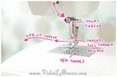 Getting To Know/Threading Your Sewing Machine! Sew Fun - Violet LeBeaux- Cute Free Craft Tutorials