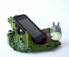 My Neighbor Totoro doll TEAK WOOD TRAY Studio Ghibli 35 ipone base. $29.50, via Etsy.