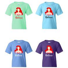 TurnTo Designs - Disney Little Mermaid ARIEL Vinyl Shirt with Custom N – SWALKERDESIGNS & WCMI/TurnTo Designs