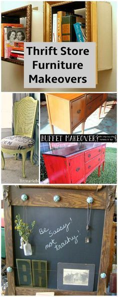 Thrift Store Furniture Makeovers • Tutorials and ideas! More