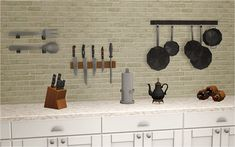 Hey. Here are some kitchen decorations converted from TS4. You can find them all in appliances/misc category. Enjoy! =) DOWNLOAD