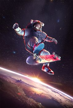 Hang Time by Devin Schoeffler, via Behance