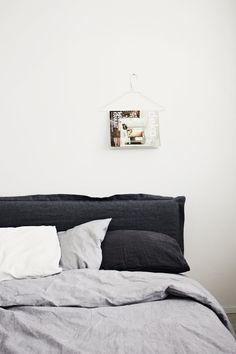 linens (and the hanger as a magazine holder would be the easiest diy of all time)