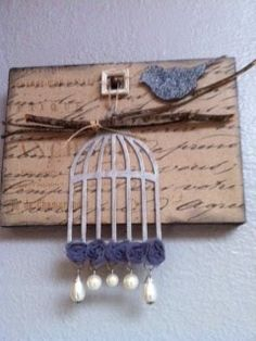 A mini canvas I made for my moms kitchen.