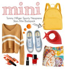 """""""Mini Backpack"""" by dellysunicorn ❤ liked on Polyvore featuring Tommy Hilfiger, Trina Turk, Paco Rabanne, Topshop and L'Oréal Paris"""