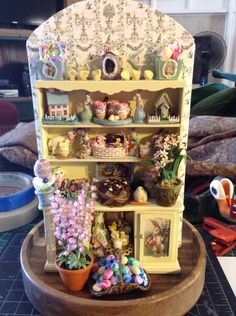 Easter hutch (class by cynthia howe minis) Finished 2015