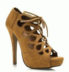 Cute suede peep shoe