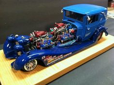 Car model's to the next level of creativity.  Quite an awesome job by this modeler