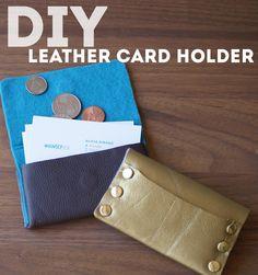 #DIY Leather Card Holder