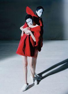 Xiao Wen Ju and Fei Fei Sun by Tim Walker Dresses: Viktor & Rolf Haute Couture F/W 2014/15 Vogue China December 2014