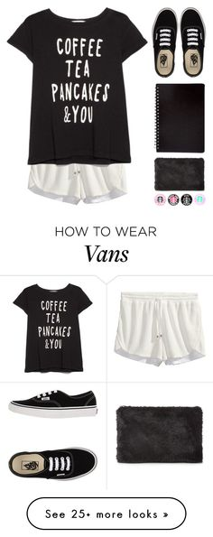 """""""Coffee tea pancakes"""" by i-poop-unicorns on Polyvore featuring H&M, MANGO, Whistles and Vans"""