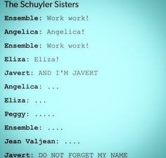 The Schuyler Sisters, Les Mis
