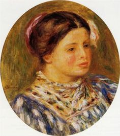Girl in Blue - Pierre-Auguste Renoir