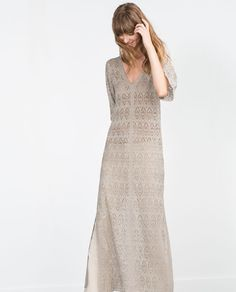 Image 1 of OPEN KNIT DRESS from Zara