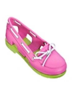 Pink and green Boat & Deck Shoes Women Crocs
