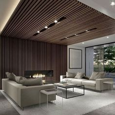 90 Best Modern Ceiling Design for Home Interior House Ceiling Design, Ceiling Design Living Room, Home Ceiling, Ceiling Decor, Living Room Interior, Living Room Designs, Living Room Decor, Ceiling Ideas, Interior Ceiling Design