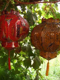 shabbi chic, shabby chic, candles, craft idea, tin cans, tin can lanterns, chic candl, candl lantern, recycl tin