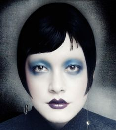 A modern Louise Brooks with shades of Serge Lutens. The Moody Blues beauty feature shot by Dima Hohlov for Models.com