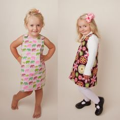 The Perfect A Line Dress for Girls Reversible Dress Pattern 2 - 6 years by Tie Dye Diva Patterns