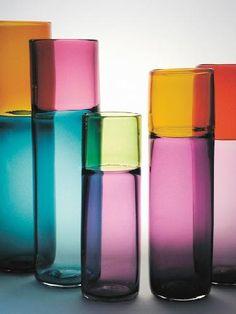 Scandinavian Glass Elegant Design Excellent In Cushion Effect Scandinavian Magenta Glass Vase Attributed To Riihimaki