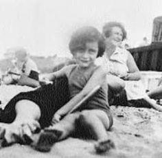 Anne Frank on the beach.