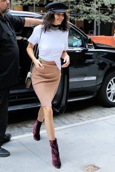 Kendall Jenner's Velvet Boots Have Us Counting Down the Days Until Fall from InStyle.com