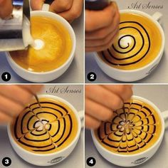 Perfect Tips And Trips For Coffee Drinkers - Christmas-Desserts Cappuccino Art, Coffee Latte Art, Coffee Barista, Coffee Drinkers, Coffee Cafe, Tea Recipes, Coffee Recipes, Coffee Artwork, Coffee Maker Machine