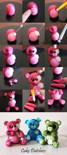 Bear Polymer Clay Tutorial