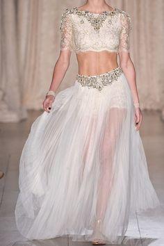 White haute couture