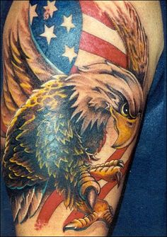 American flag with the bald eagle on it