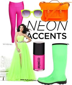 """""""neon colours"""" by isla-ellis ❤ liked on Polyvore"""