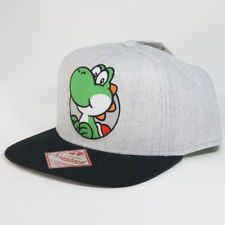 Nintendo YOSHI SNAPBACK HAT - Super Mario Wiiu Era Mens Womens Baseball Cap NEW