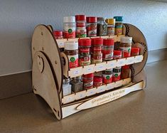 12 Piece Hanging Spice Rack-Silver   Etsy Spice Drawer, Spice Storage, Hanging Spice Rack, Ace Hardware Store, Puzzle Shop, Spice Labels, Kitchen Drawer Organization, Heart Shaped Rings, Healing Herbs
