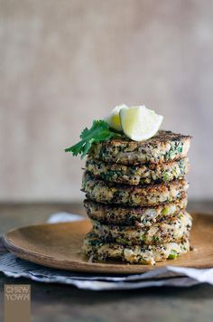 Tuna, Choy Sum and Quinoa Patties | via Chew Town Food Blog