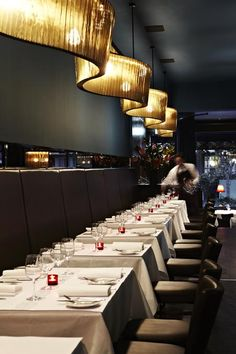 Matteo's encompasses a chic European dining room with salon-style decor from velvet drapes to lush wallpapers.
