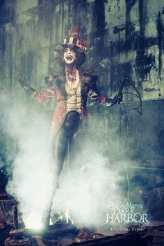 I love how different this ring master is to your stereotypical ring master, its scary/ freaky matching the circus freak genre plus the smoke gives it an eary feel
