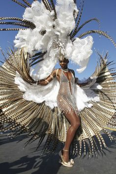 carnival costume 2015 white net quail feathers