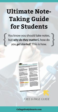 Ultimate note-taking guide for students. You know you should take notes, but why do they matter and how do you get started? This is how. | Take Awesome College Notes, note taking, take better notes, take notes faster, take notes easier, note taking tools, note taking resources, note taking tips, college notes, online notes, online study notes, study tips, study habits, university notes