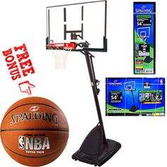 Spalding NBA Portable Angled Basketball Hoop for sale online Spalding Basketball Hoop, Basketball Playoffs, Houston Basketball, Basketball Systems, Street Basketball, Basketball Equipment, High School Basketball, Basketball Leagues