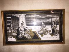 Miniature painting on ivory - Kashmir