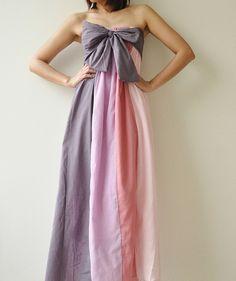 The Line Part II Pink Purple Maxi Cotton dress by aftershowershop, $46.50