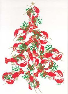 Lobster christmas tree