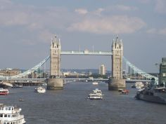 The Tower Bridge, over the River Thames. We took our kids to England and they loved the boat ride up the river.