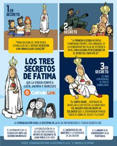 Quotes, infographics, memes and more resources for the New Evangelization. Infographic: The three secrets of Our Lady of Fatima Catholic Prayers, Catholic Religious Education, Catholic Catechism, Catholic Doctrine, Catholic Answers, Catholic Religion, Catholic Kids, Roman Catholic, Eucharist