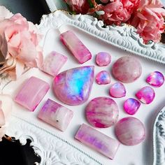 I love how pink and girly this photo is! Keep the pink moonstone jewelry flowing @sacraluna  the pink is an illusion, no treatment to the natural moonstone