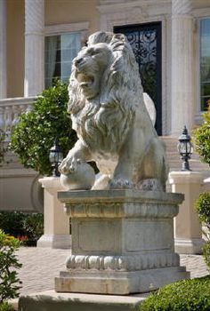 "Italian villa style lion: ""Whatever you are physically...male or female, strong or weak, ill or healthy--all those things matter less than what your heart contains. If you have the soul of a warrior, you are a warrior. All those other things, they are the glass that contains the lamp, but you are the light inside."""