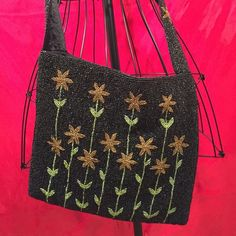 "KC Malhan Crossbody Bag Beautiful beaded KC Malhan Crossbody bag. Flower pattern. Satin lining. 2 snap closure. 37"" strap. 10"" height. 12"" width. Excellent condition. KC Malhan Bags Crossbody Bags"