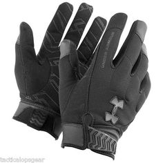 Under Armour Winter Tactical SWAT SF Blackout Coldgear Gloves Black 1227556