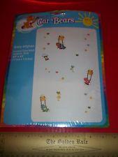CARE BEARS Craft Kit BABY Afghan Counted Cross Stitch Bib Art SET Crib Bed Linen